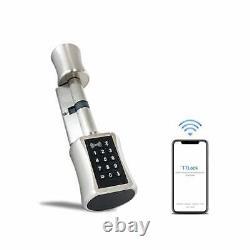 Smart Cylinder Lock Avec Ttlock App Keyless Electronic Door Lock 60/40t Bt Wifi