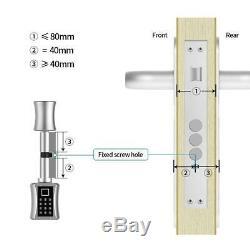Smart Cylindre Serrure Électronique D'empreintes Digitales Mot De Passe Vocal Clé Pour L'ue Style