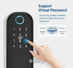 Smart D'empreintes Digitales De Verrouillage De Porte Clavier Sans Clé Électronique Smart Card App Unlock Accueil