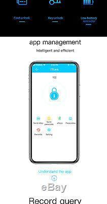 Smart D'empreintes Digitales De Verrouillage De Porte IC Card Passcode Unlock Sans Clé Accueil Sécurité