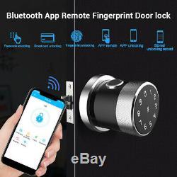 Smart D'empreintes Digitales De Verrouillage De Porte Serrure Téléphone Carte IC App Unlock Sans Clé Étanche