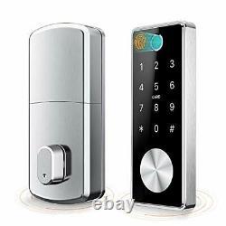 Smart Deadbolt Verrouillage De Porte D'entrée Sans Clé 5 En 1 Empreinte Digitale Bluetooth App Clé F