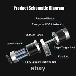 Smart Digital Door Lock Battery Powered App Touch Mot De Passe Keyless Latch S5