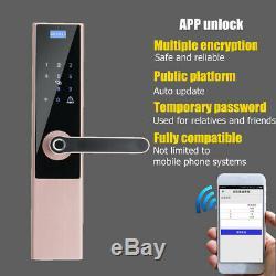 Smart Digital Lock Code Électronique De Verrouillage De Porte D'empreintes Digitales App Écran Tactile Sans Clé