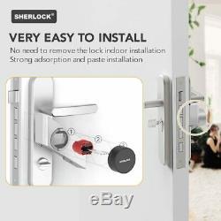 Smart Door Lock Accueil Sans Clé De Verrouillage D'empreintes Digitales + Mot De Passe Travail Sherlock