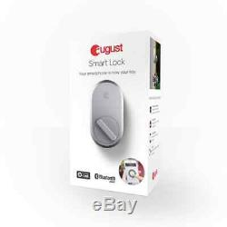 Smart Door Lock Deadbolts Août, Entrée Sans Clé D'argent D'accès Bluetooth