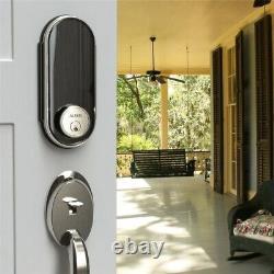 Smart Door Lock Écran Tactile Keyless Satin Nickel Electronic Keypad Digital Black