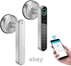 Smart Door Lock Keyless Fingerprint Entrée Bluetooth Wifi Biometric Handle App