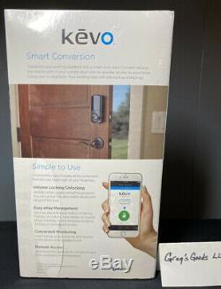 Smart Door Lock Kit De Conversion Kwikset Bluetooth Sans Clé Venetian Bronze Alexa