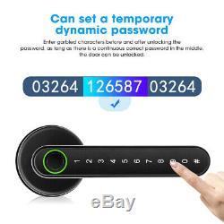 Smart Door Lock Poignée D'empreintes Digitales + Mot De Passe + Bluetooth App + Clé Keyless Padlock