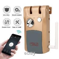 Smart Electronic Security Door Lock Bluetooth App Télécommande Déverrouiller Keyless