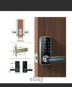 Smart Fingerprint Door Lock Touch, 5-en-1 Keyless Entry Card Wifi Bluetooth