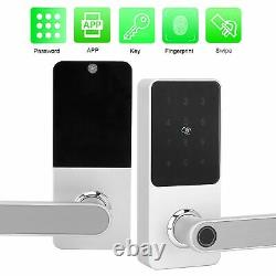 Smart Fingerprint Porte Verrouillage Mot De Passe Clavier App Carte Déverrouillage Des Clés Contrôle D'accès