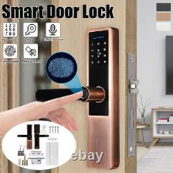 Smart Keyless Door Lock Security Electronic Password Keypad Card Empreinte Digitale