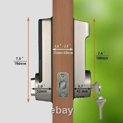 Smart Lock Fingerprint Door Lock Smart Deadbolt Avec Keypad 5-en-1 Entrée Sans Clé