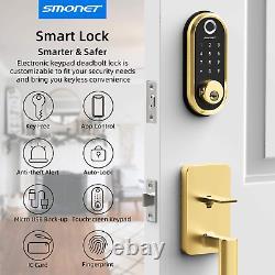 Smart Lock Smonet Bluetooth Clavier D'entrée Sans Clé Smart Deadbolt-fingerprint Elec