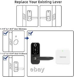 Smart Lock, Smonet Fingerprint Verrouillage De Porte Avec Poignée Réversible, Blu D'entrée Sans Clé