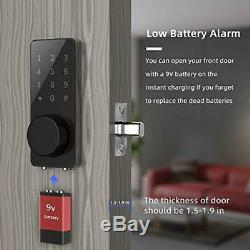 Smart Lock, Verrouillage Sans Clef Porte À Pêne Dormant, Clavier Bluetooth Numérique Électronique Pour