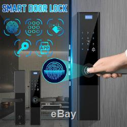 Smart Numérique D'empreintes Digitales De Verrouillage De Porte Antivol Tactile Mot De Passe Sans Clé Clavier