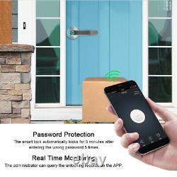 Smart Poignée De Porte Verrouillage App Contrôle À Distance D'empreintes Digitales Mot De Passe De Déverrouillage Sans Clé