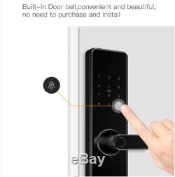 Smart Porte Wifi À La Maison D'empreintes Digitales Lock, Sécurité Sans Clé Accueil Mot De Passe Carte Rfid