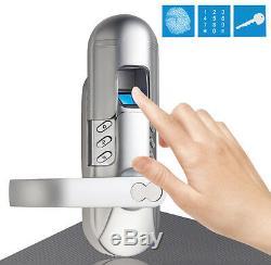 Smart Security Clavier Numérique Sans Clé, À Empreinte Digitale, Bouton De Verrouillage De Porte, Entrée 98, Chrome
