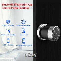Smart Serrure De Porte Biométrique Phone App Unlock Sans Clé Étanche Accueil Security Lock