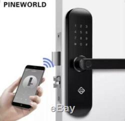 Smart Verrouillage De Porte Sans Clé Électronique D'empreintes Digitales Entrée Wifi App Rfid Carte Sonnette
