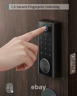 Touche Intelligente De Sécurité, Scanner D'empreinte Digitale, Serrure De Porte D'entrée Sans Clé, Bluetooth