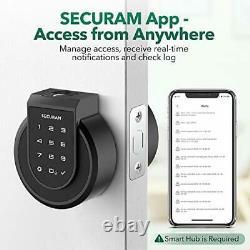 Touchez Smart Lock Deadbolt, Serrure De Porte D'entrée Sans Clé Avec Empreinte Digitale