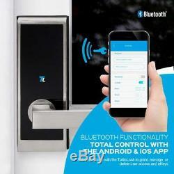 Turbolock Tl100 Serrure De Porte Électronique Sans Clé Pour La Maison, Entrée Intelligente, Bluetooth, Nickel