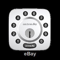 Ultaloq U-bolt Bluetooth Smart Sans Clé Clavier À Pêne Dormant De Verrouillage De Porte En Nickel Satiné
