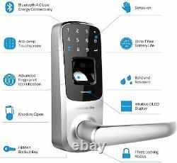 Ultraloq Biométrique Sans Clé Smart Entry Verrouillage Automatique Des Portes Électronique Numérique À Écran Tactile