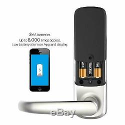 Ultraloq D'empreintes Digitales Bluetooth Sans Clé De Porte D'entrée Intelligente De Verrouillage De Porte En Nickel Satiné