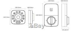 Ultraloq E-bolt Empreinte Digitale De Serrure Intelligente Empreinte Digitale Deadbolt Entrée Sans Clé Avec Pont