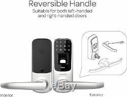 Ultraloq Écran Tactile D'empreintes Digitales Bluetooth Sans Clé De Porte D'entrée Smart Lock Accueil