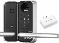 Ultraloq Sans Clé Smart Entry Levier De Verrouillage + Pont Wifi Travail Avec Adaptateur Alexa Google