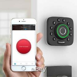 Ultraloq U-bolt Pro Bluetooth D'empreintes Digitales Sans Clé Intelligente De Verrouillage De Porte À Pêne Dormant