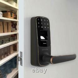 Ultraloq Ul3 Bluetooth Fingerprint Touchscreen Keyless Smart Lock Aged Bronze
