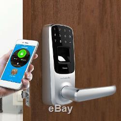 Ultraloq Ul3 Bt Bluetooth D'empreintes Digitales Et Écran Tactile Sans Clé Intelligent De Verrouillage De Porte