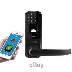 Ultraloq Ul3 Bt Empreintes Digitales Et Écran Tactile Sans Clé Intelligent Levier De Verrouillage De Porte Aged