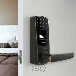Ultraloq Ul3 Bt Empreintes Digitales Tactile Sans Clé Intelligent De Verrouillage De Porte En Bronze Vieilli