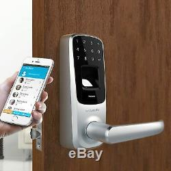 Ultraloq Ul3 Bt Empreintes Digitales Tactile Sans Clé Intelligent De Verrouillage De Porte En Nickel Satiné