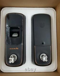 Ultraloq Ul3bt-ab Empreinte Digitale Et Écran Tactile Keyless Smart Door Lock Brand New