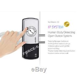 Unicor Onu-325n-gl Pour Porte En Verre Sans Clé Smart Lock Numérique Serrure Passcode
