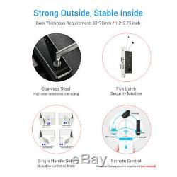 Verrou De Porte Bt-smart Keyless Home Code Étanche À L'eau Clavier Électronique À Écran Tactile