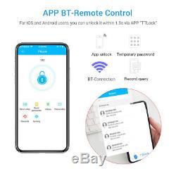 Verrou De Porte Bt-smart Sécurité Du Mot De Passe Sans Clé Sécurité App Code Clavier Numérique Écran Tactile