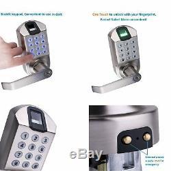 Verrouillage Automatique Du Verrouillage Intelligent Du Clavier Numérique Biométrique Sans Clé De Serrure De Porte D'empreinte Digitale