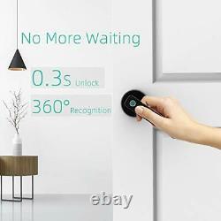 Verrouillage De Porte D'empreinte Digitale, Électronique Biométrique Smart Deadbolt Entrée Sans Clé Noir