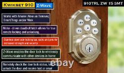 Verrouillage De Porte Intelligent Électronique Smartcode 910 Smart Clavier Entrée Sans Clé Z-wave